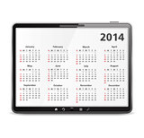 2014 Calendar in Tablet PC