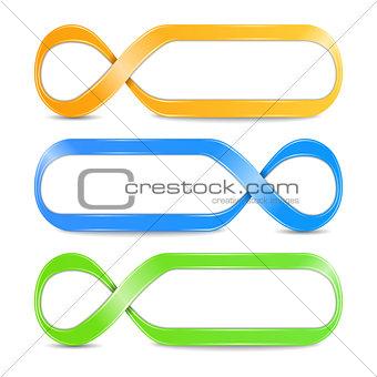 Abstract infinity symbols