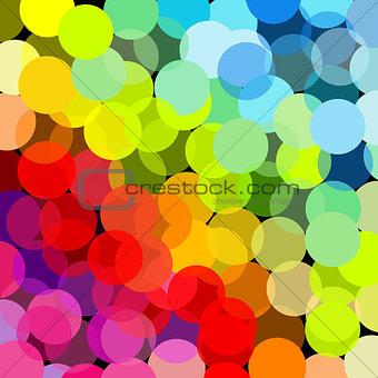 Abstract rainbow made of circles