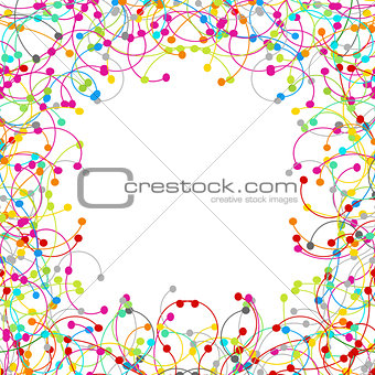 Frame made of colored network