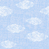 Grunge sky with clouds seamless pattern
