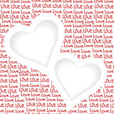 Love background with two hearts and place for text