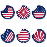 Round stickers with USA flag