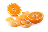 mandarin and peeled slices