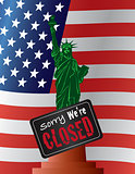 Government Shutdown Statue of Liberty Illustration