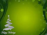 Nice green happy holidays background illustration