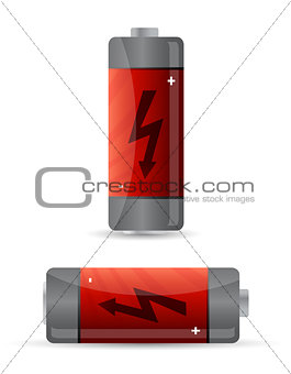battery icon illustration design over a white background