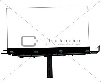 Blank billboard isolated on white background for your advertisem