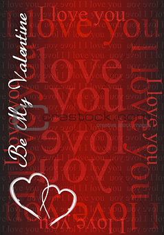 Be my Valentine - I love you card illustration design