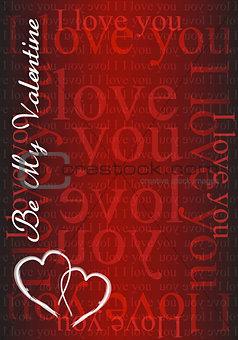 Be my Valentine - I love you card illustration design