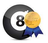 Award winning eight ball illustration design
