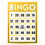 Bingo card illustration design isolated over a white background