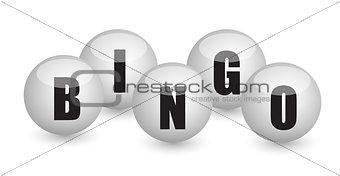 bingo balls illustration design concept
