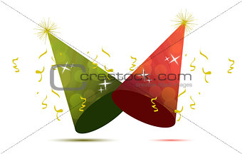 party hats illustration design isolated over a white background