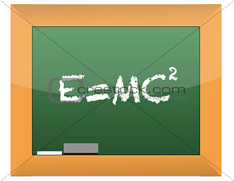 Science.Written formula on blackboard illustration design