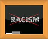 Conceptional chalk drawing - No racism illustration design