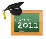 Class of 2011 school education concept illustration design