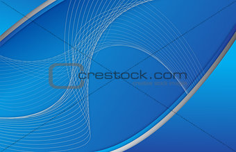 Abstract blue background wave illustration design