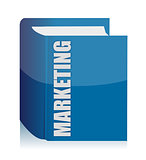 Blue Marketing book illustration design over white