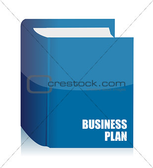 business plan agenda book illustration design on white backgroun