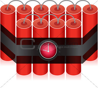 Countdown Time Bomb - Dynamite illustration design isolated over