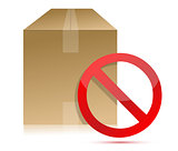 Shipping box with don't sign illustration