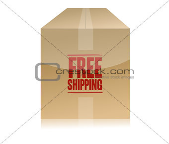 free shipping box illustration design isolated over a white back