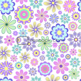 pastel flower on white background.