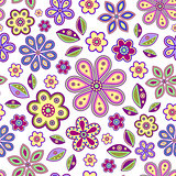 seamless with colorful flowers