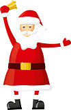 Vector Santa With Bell
