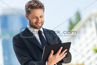 Businessman Using Tablet Computer