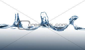 Waves of blue wate