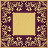 gold frame with floral ornamental