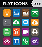 Universal Colorful Flat Icons. Set 8.