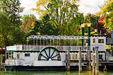 paddle wheel boat in autumn