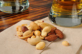 Mixed nuts with beer
