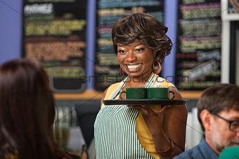 Beautiful Woman Serving Drinks