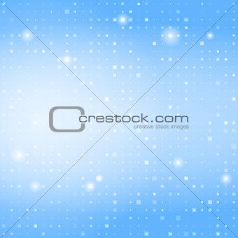 Blue abstract background with small squares