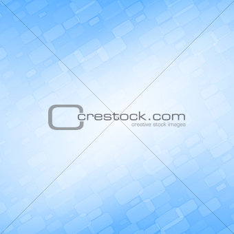 Blue abstract background with diagonal bricks