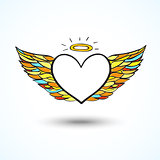 Angel heart background