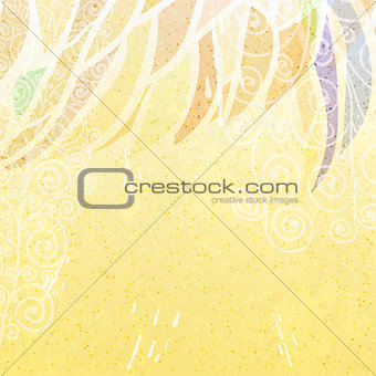 Abstract beige grunge at top dark bright