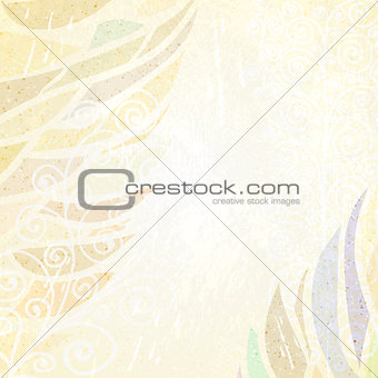 Abstract beige grunge card
