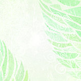 Abstract grunge green floral background left