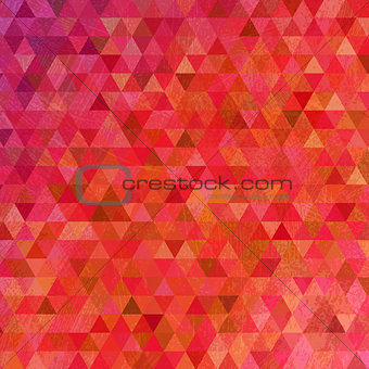 Grunge bright pink triangles abstract background