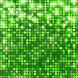 Green abstract sparkling background with circles