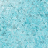 Vintage grunge blue triangles abstract background