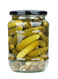 Pickles in glass jar