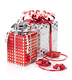 Christmas gift boxes and decor
