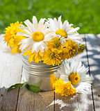 Fresh garden flower bouquet