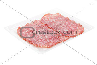 Sliced salami packaging